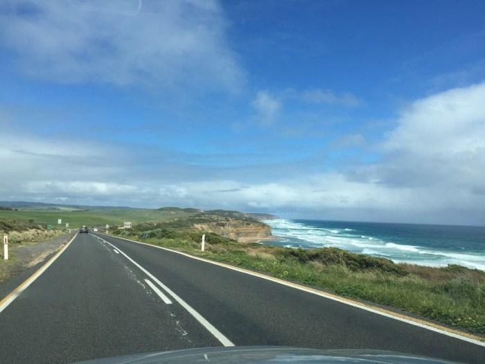 driving Great Ocean Road