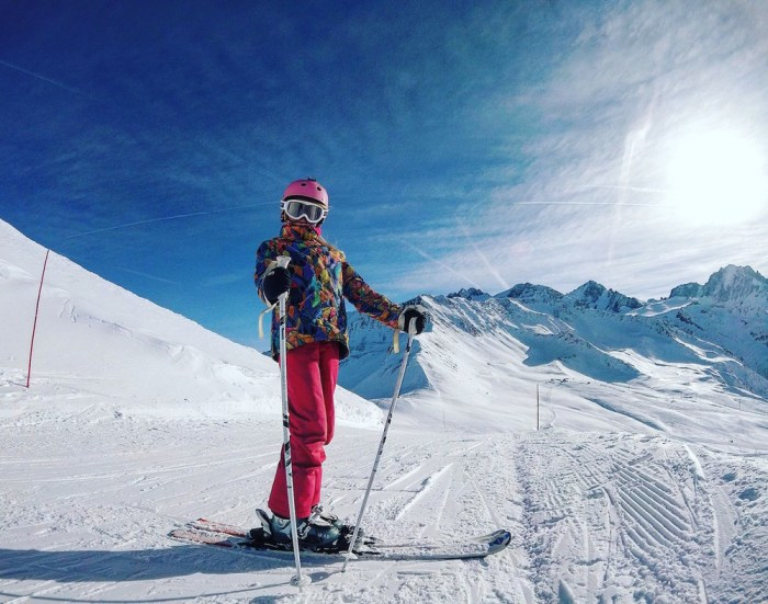 skiing with kids Alps