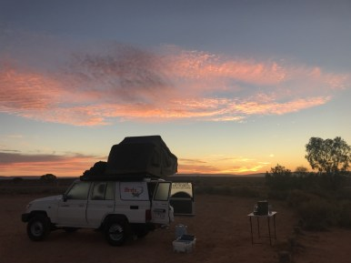 Stuart Highway camping