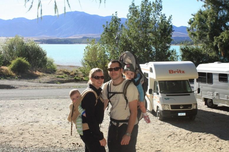 Britz Campervan with kids