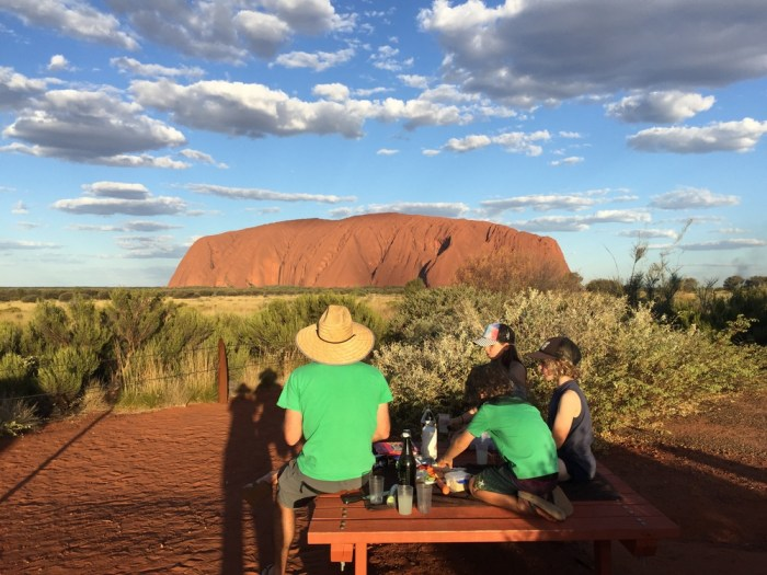Sunset viewing Uluru