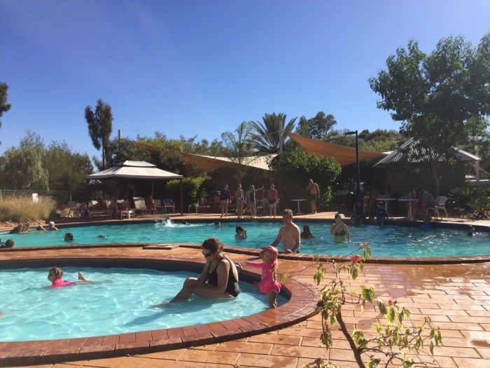 Swimming at Ayers Rock Resort
