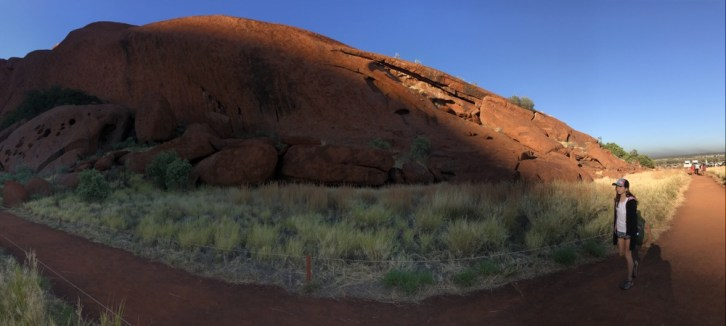 Uluru base walk with kids