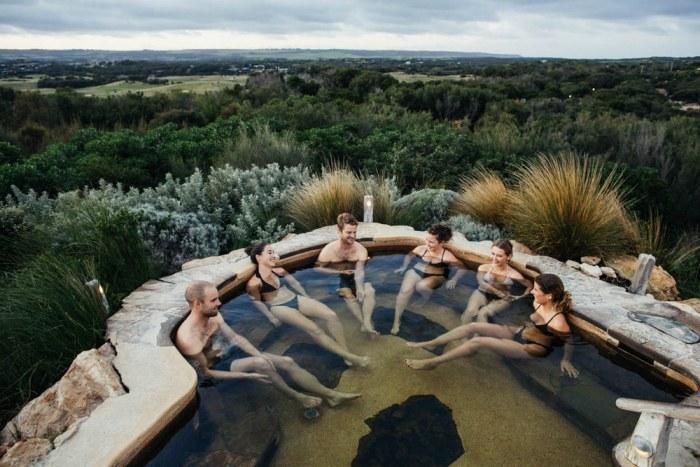 Bath House - hilltop bathing view