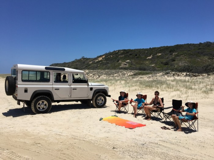 Camping on Fraser Island in Australia