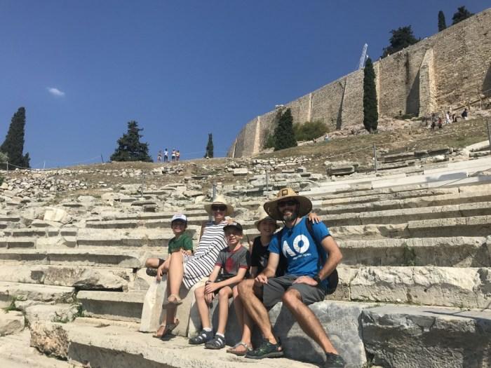 Acropolis tour with kids