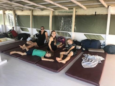 Komodo boat sleeping