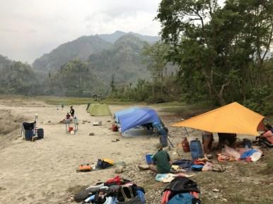 Rafting beach camp
