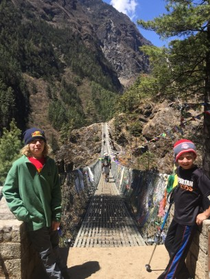 hiking with kids in Nepal