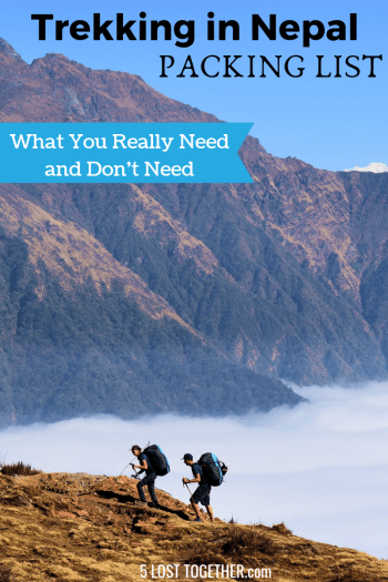 Packing list for Trekking in Nepal