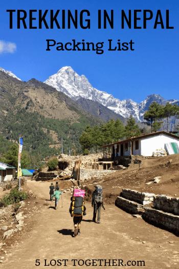 Trekking in Nepal Packing List