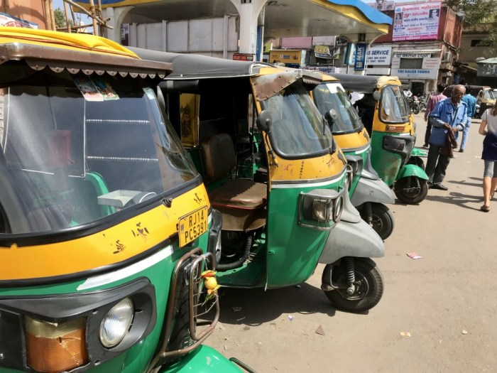 Getting around Jaipur rickshaw
