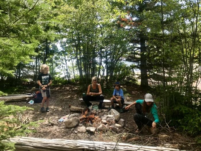 Robertson Cove campsite