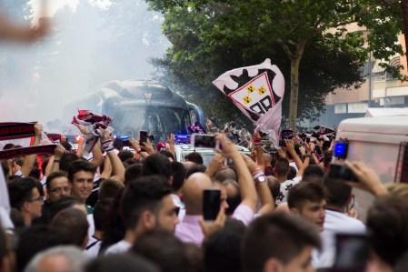Recibimiento equipo Albacete-Mestalla 2017 MEJOR2017
