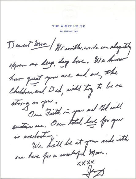 President Gerald Ford wrote this letter to his wife, Betty. notice how simple, honest and sincere he was.