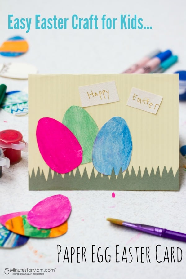 Paper Egg Easter Card Easy Craft For Kids