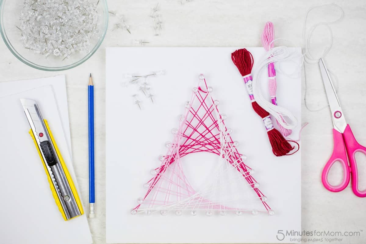 Math String Art Parabolic Curves
