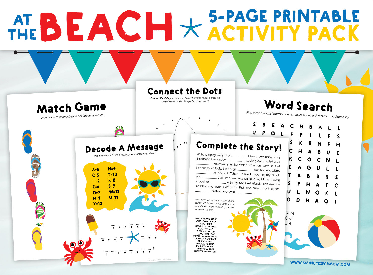 Puzzle Printable Summer Crossword Puzzles For Kids