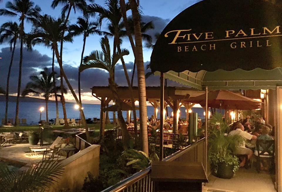 5 Palms Restaurant On Maui South Maui S Premiere