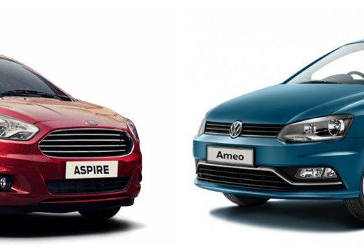 Ford Figo Aspire vs. Volkswagen Ameo
