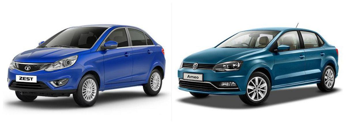 Tata Zest vs. Volkswagen Ameo