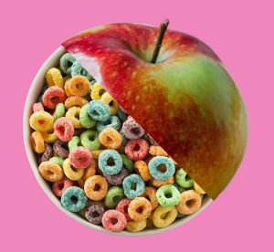 cereal vs. apple developmentally appropriate kindergarten