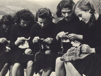 Women's Knitting Circle from 1930s.