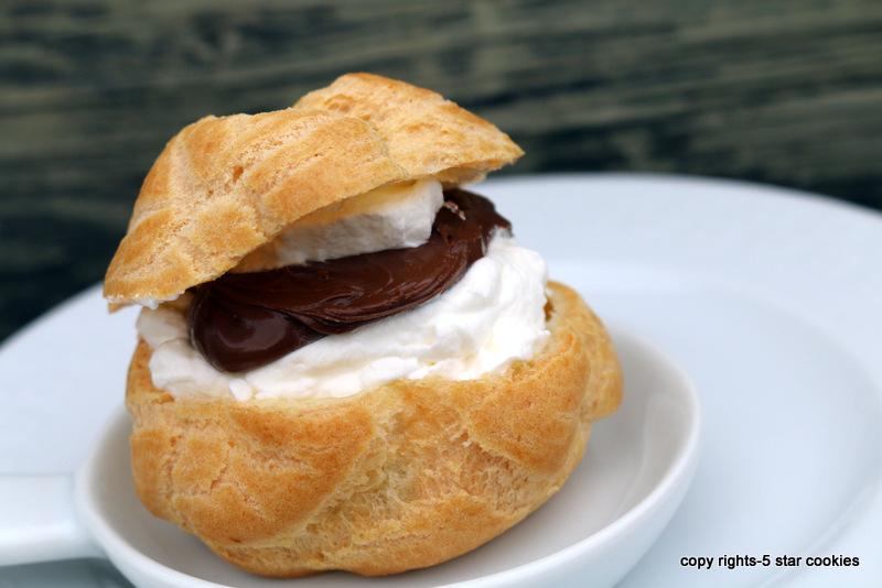 5 star cookies cream puffs