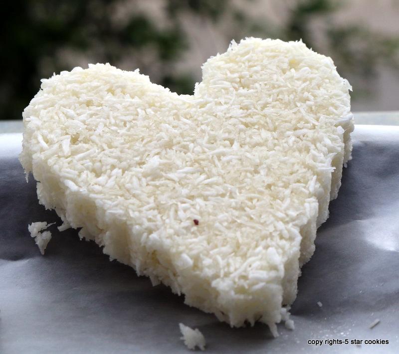 5starcookies coconut heart