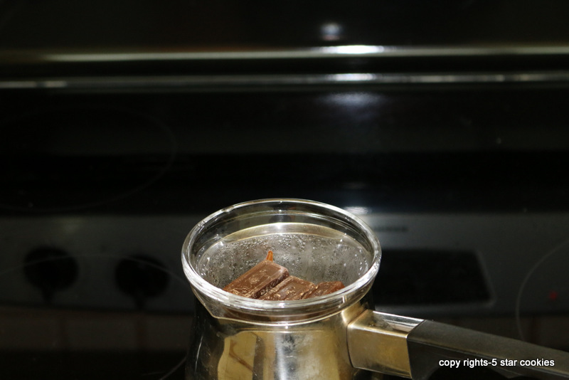 5starcookies melting chocolate