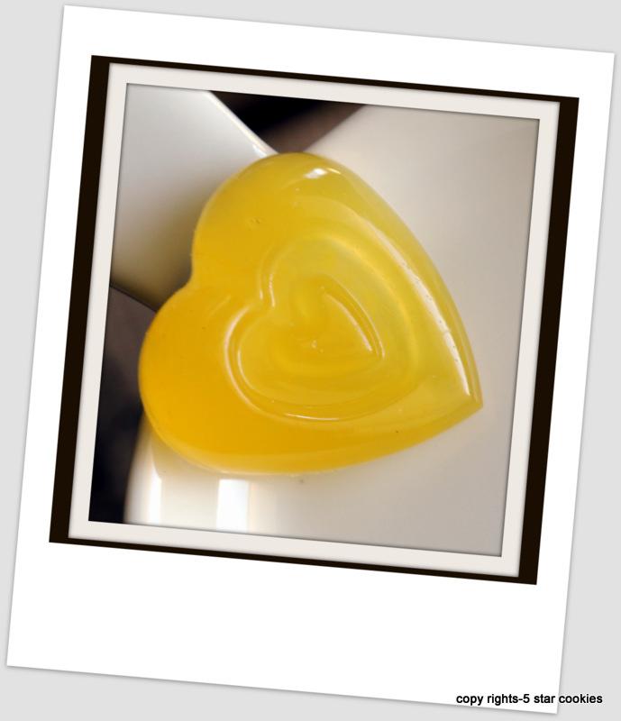 Organic Orange Gummy Hearts of the best food blog 5starcookies