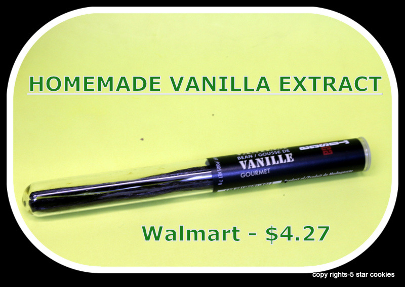 Vanilla Extract Homemade from the best food blog 5starcookies Buy it at the Walmart