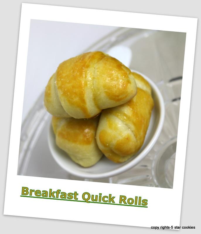 Breakfast quick rolls from the best food blog 5starcookies