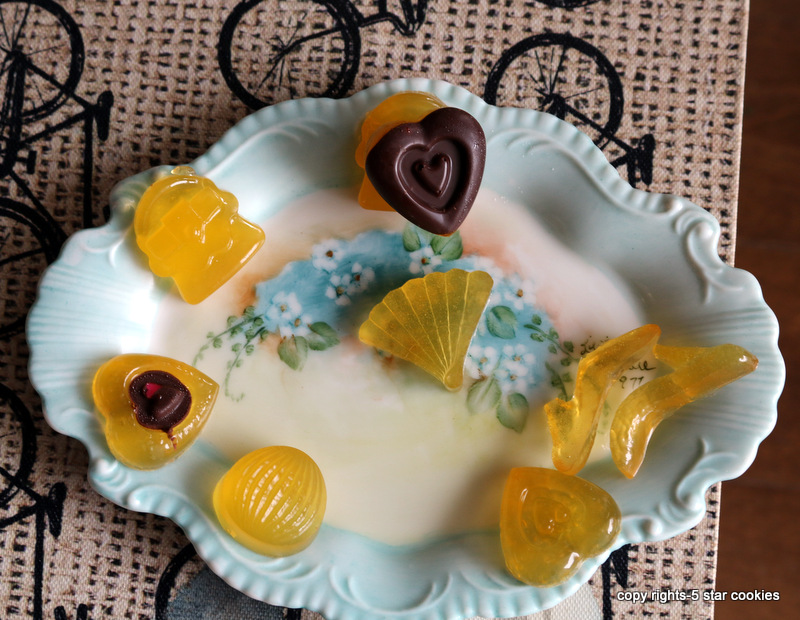 Organic Lemon Gummy Shapes from the best food blog 5starcookies and Cookie
