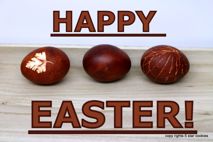 Happy Easter 2017 from the best food blog 5starcookies and your Cookie
