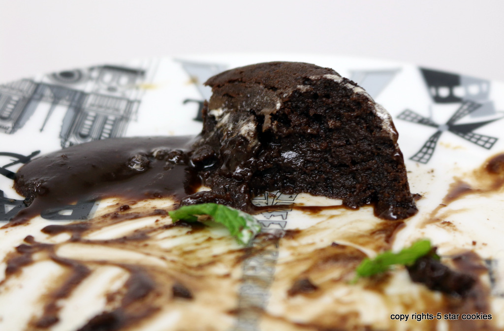 mint chocolate lava cake from the best food blog 5starcookies