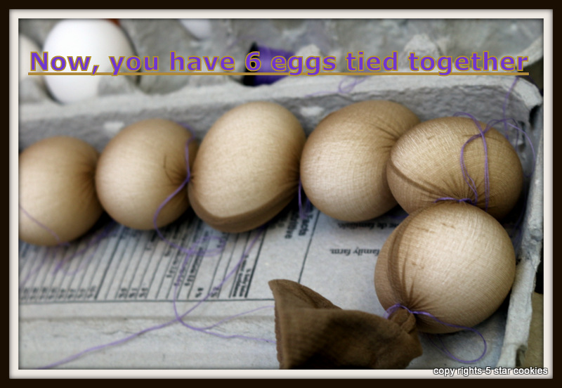 naturally dyed eggs using onion skin 5starcookies food blog Organic 6 Eggs tied together