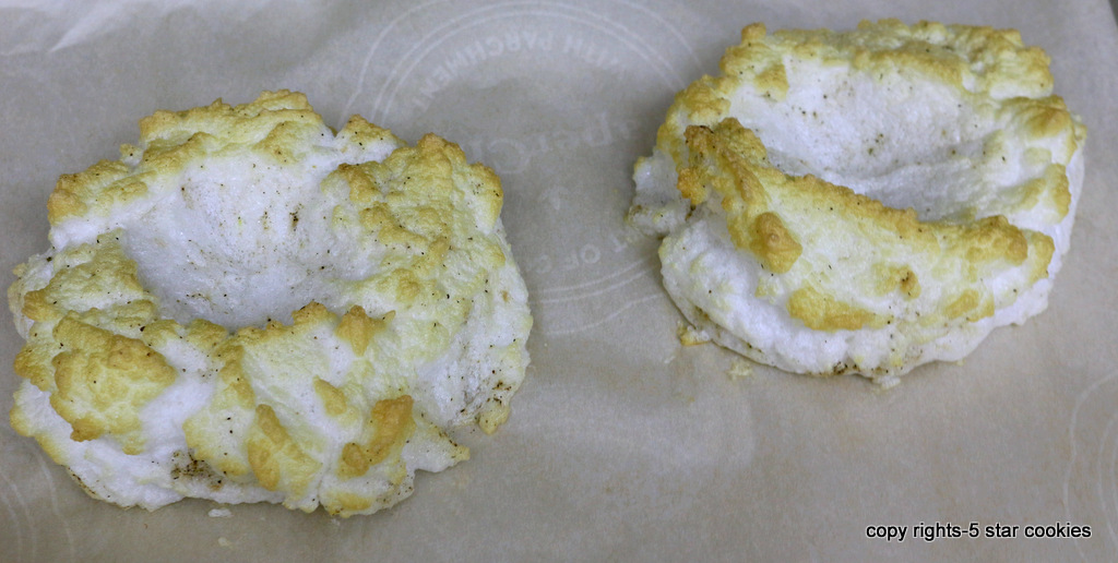 Cloud Eggs and Cloud technology in our food industry from the best food blog 5starcookies Egg Whites Baked for 5 min