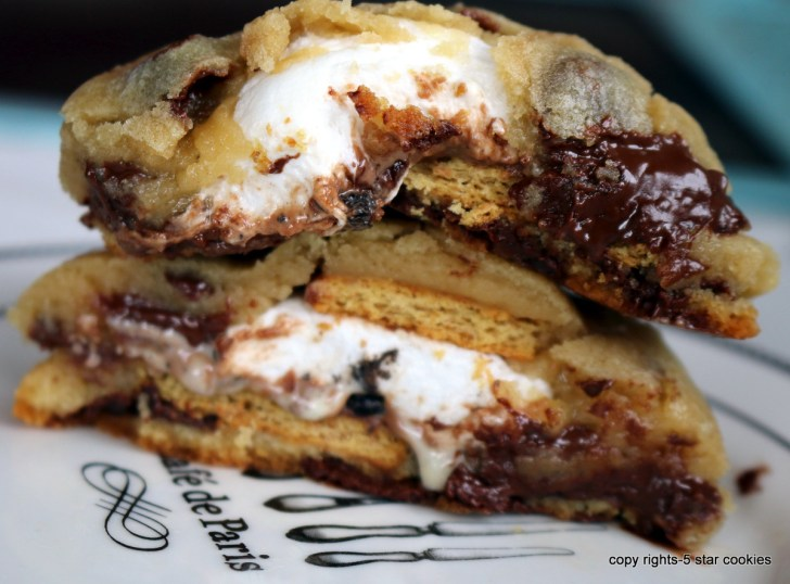 s'mores cookies from the best food blog 5starcookies and cookies