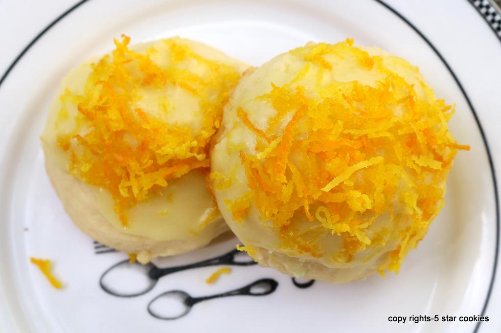 Orange Cookies from the best food blog 5starcookies and Cookie