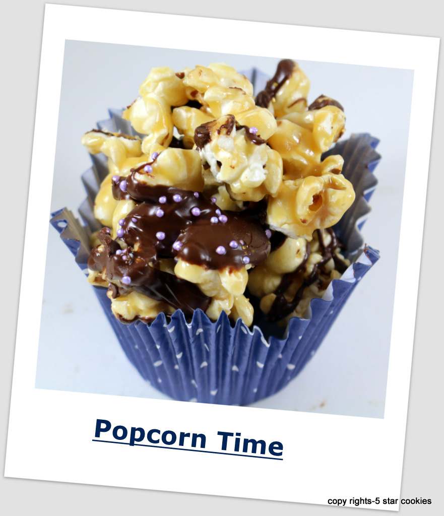Chocolate Skor Popcorn from 5starcookies -Movie Night In
