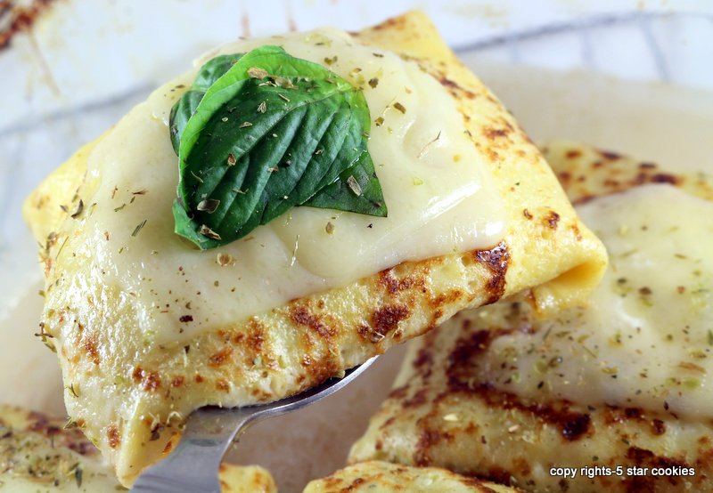 Baked Cheese Protein Crepes from the best 5starcookies -baked crepes and enjoy
