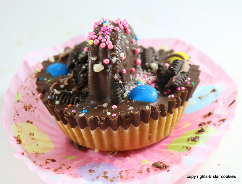 Oreo Peanut Butter Cup from the best food blog 5starcookies-top with chocolate