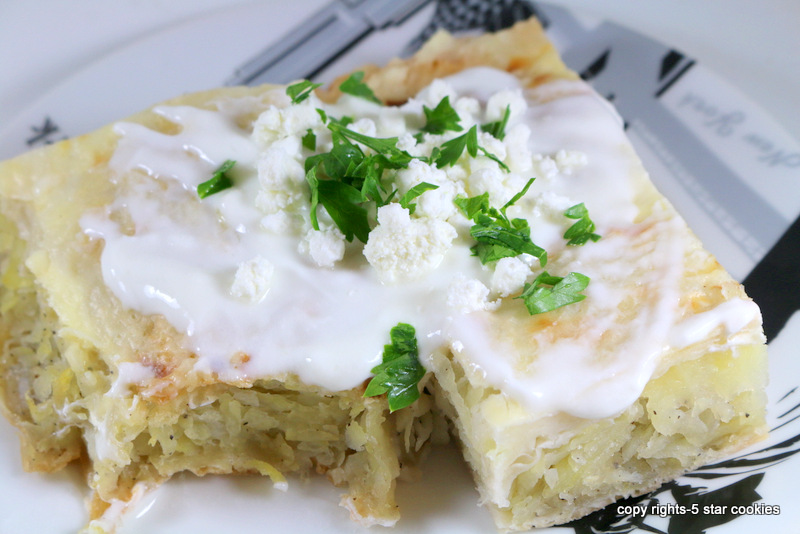Potato Feta Onion Pie from the best food blog 5starcookies-enjoy