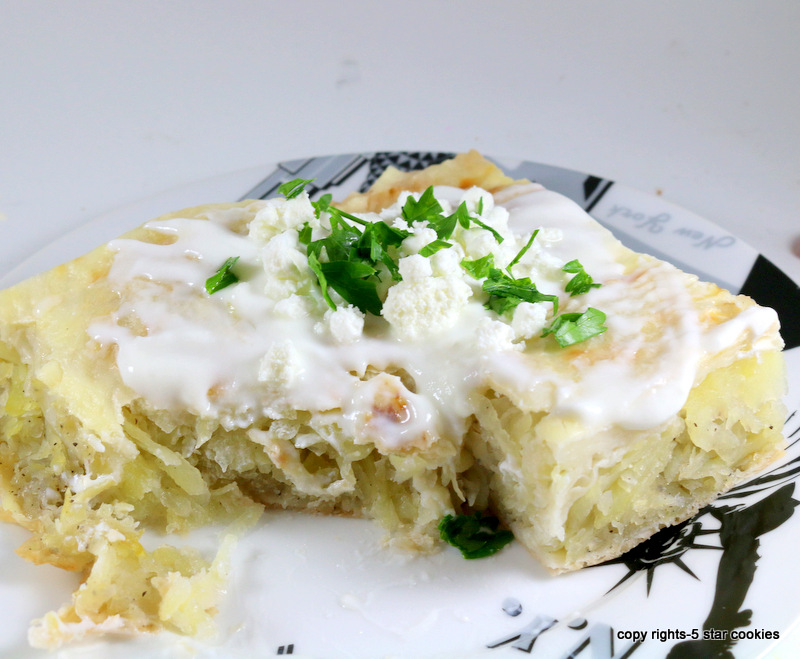 Potato Feta Onion Pie from the best food blog 5starcookies