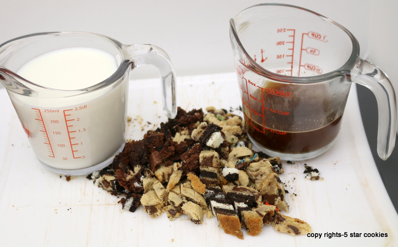 Chocolate Chip White Coffee Drink from the best food blog 5starcookies-ingredients