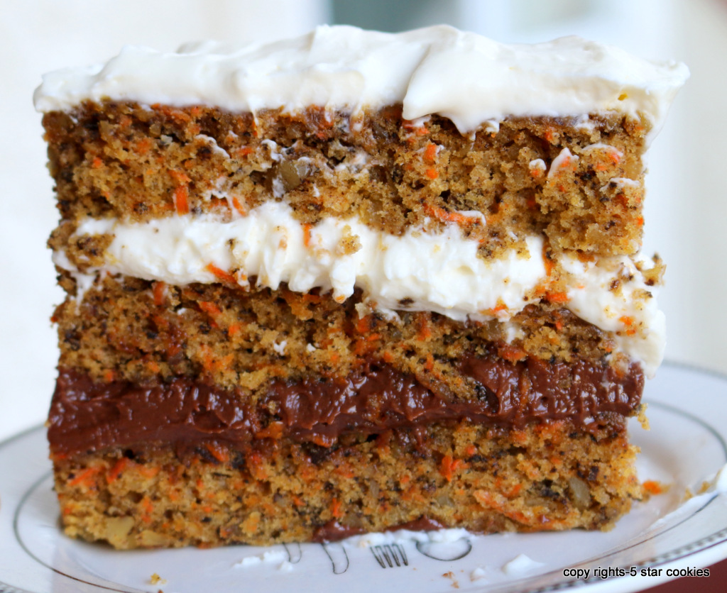nutella cheese carrot cake from the best food blog 5starcookies-enjoy and share