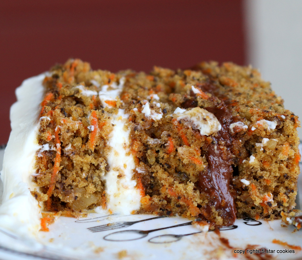 nutella cheese carrot cake from the best food blog 5starcookies-start eating