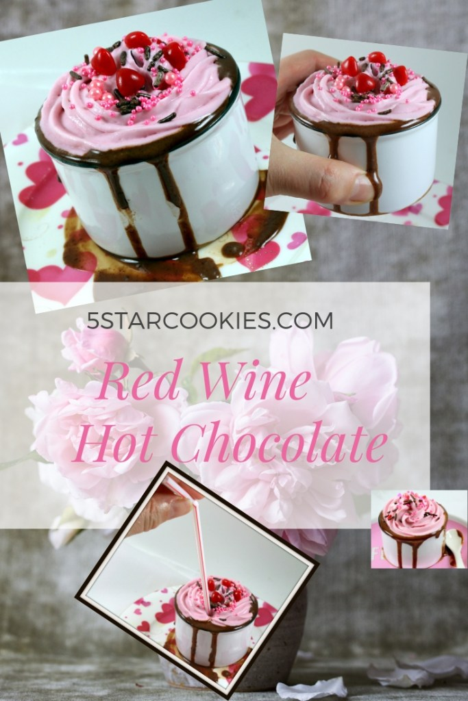 red wine hot chocolate from the best food blog 5starcookies