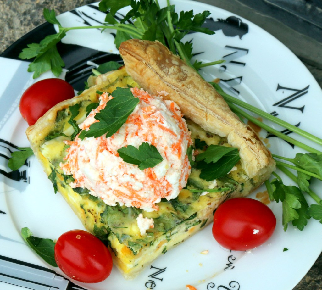 Ricotta and Spinach Quiche from the best food blog 5starcookies -French recipe